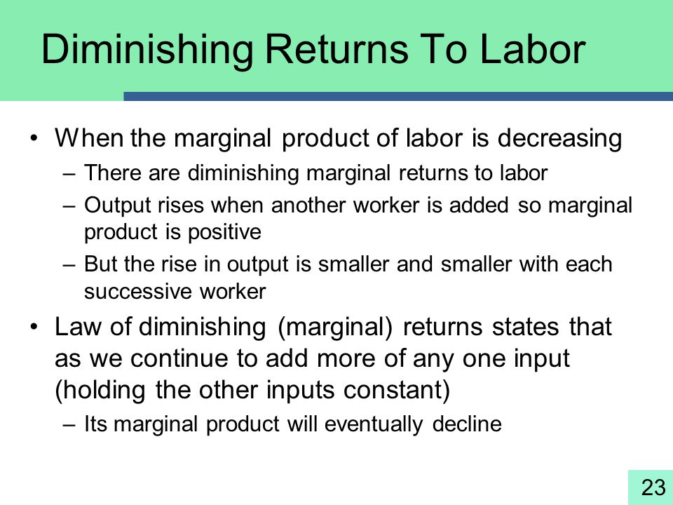 Diminishing Returns To Labor