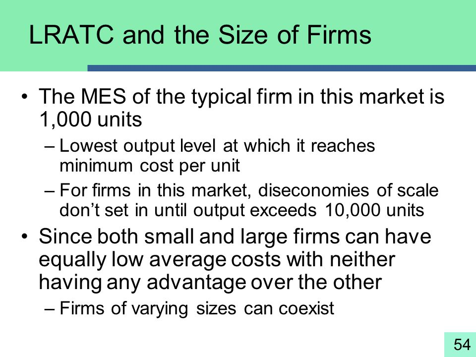 LRATC and the Size of Firms