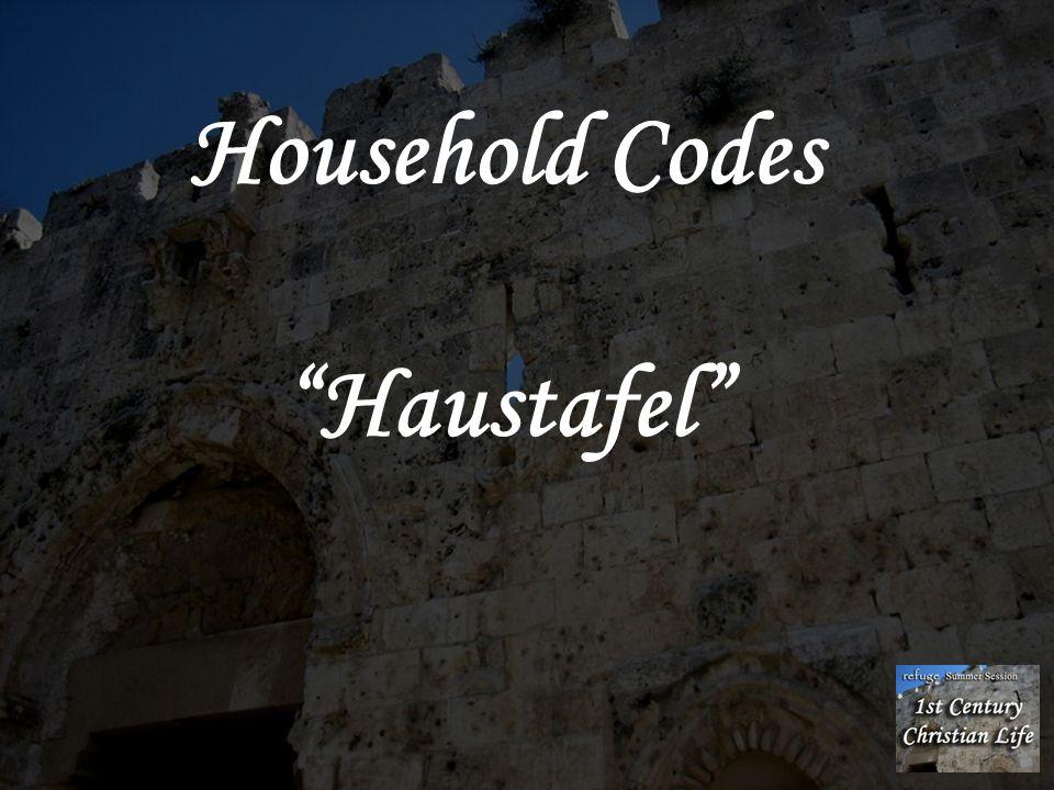 Household Codes Haustafel