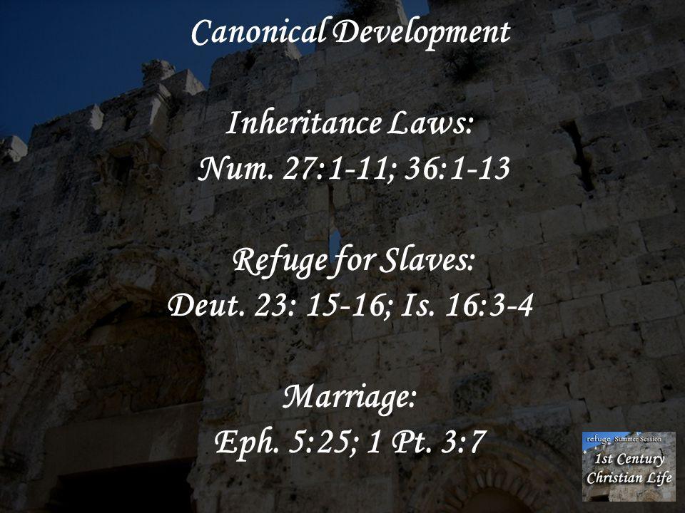 Canonical Development