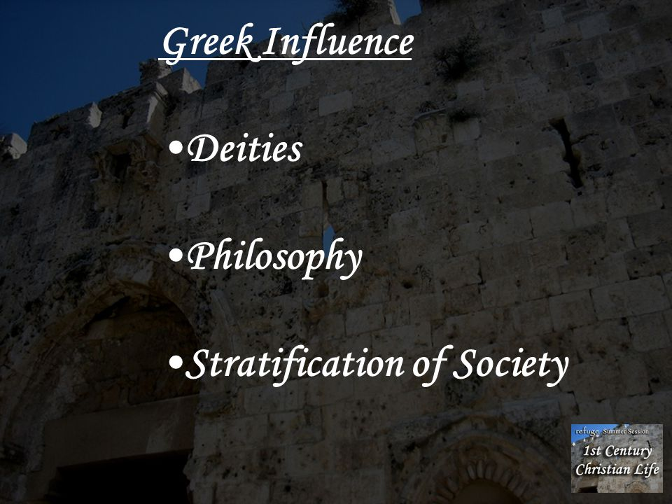 Greek Influence Deities Philosophy Stratification of Society