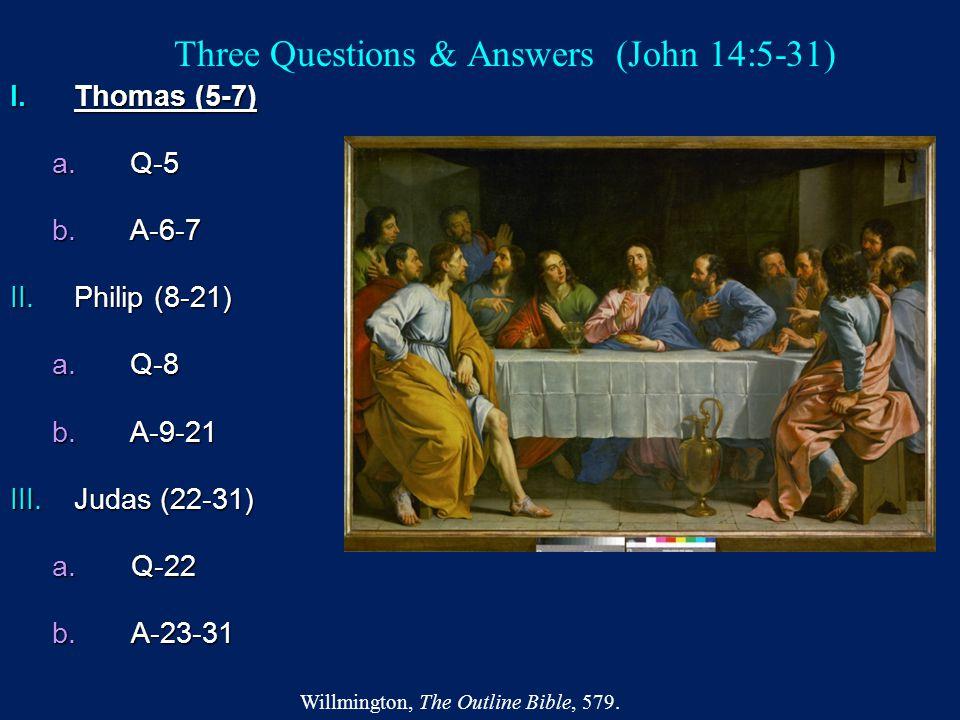 Three Questions & Answers (John 14:5-31)