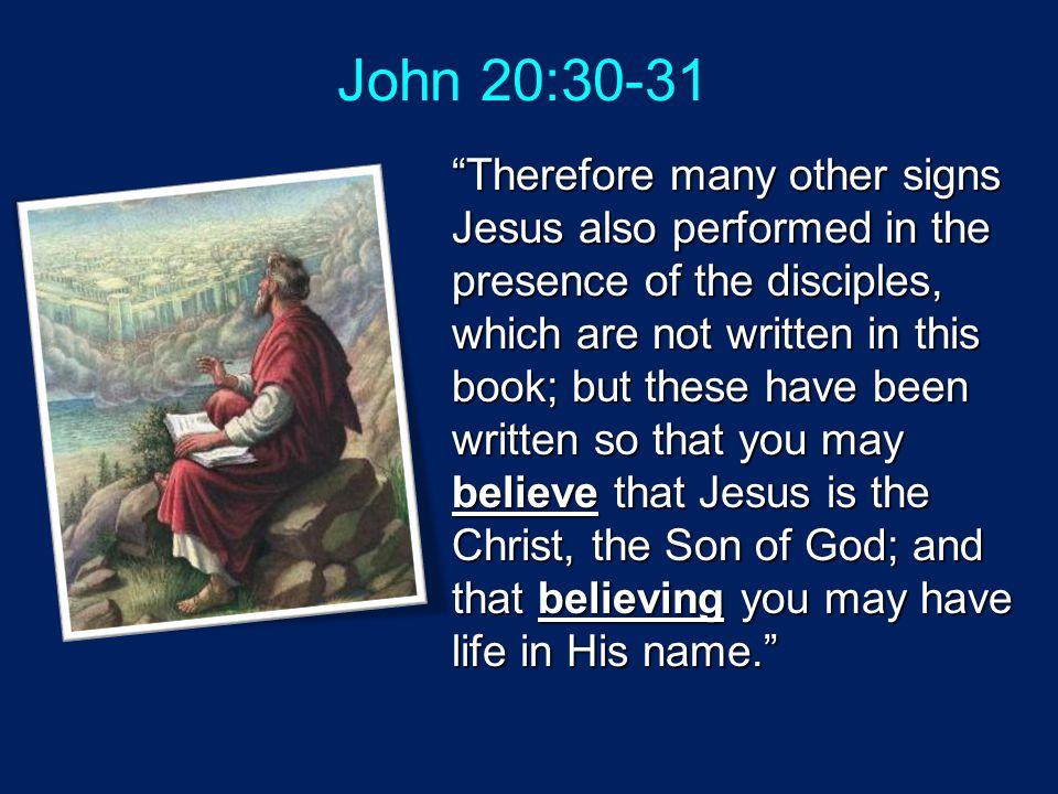 John 20:30-31