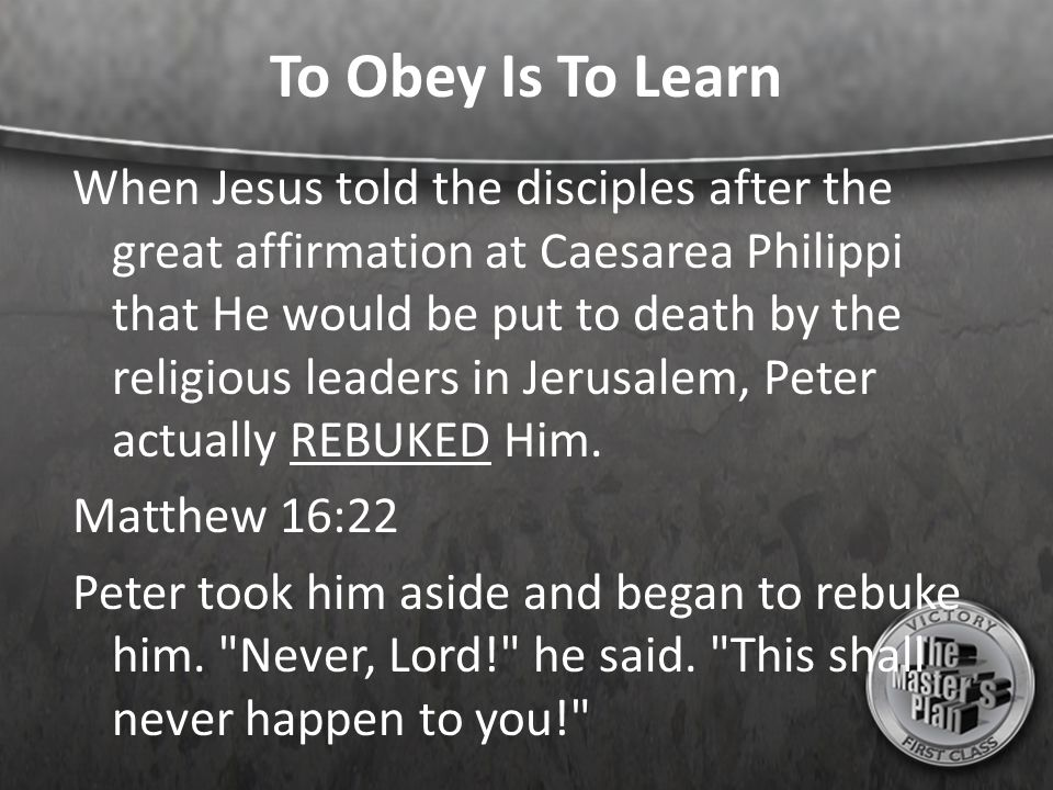 To Obey Is To Learn