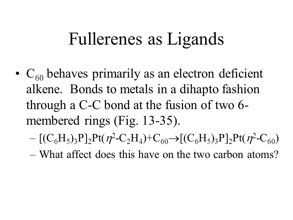Fullerenes as Ligands