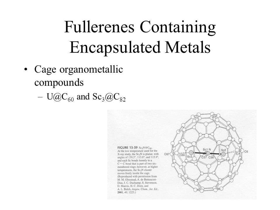 Fullerenes Containing Encapsulated Metals