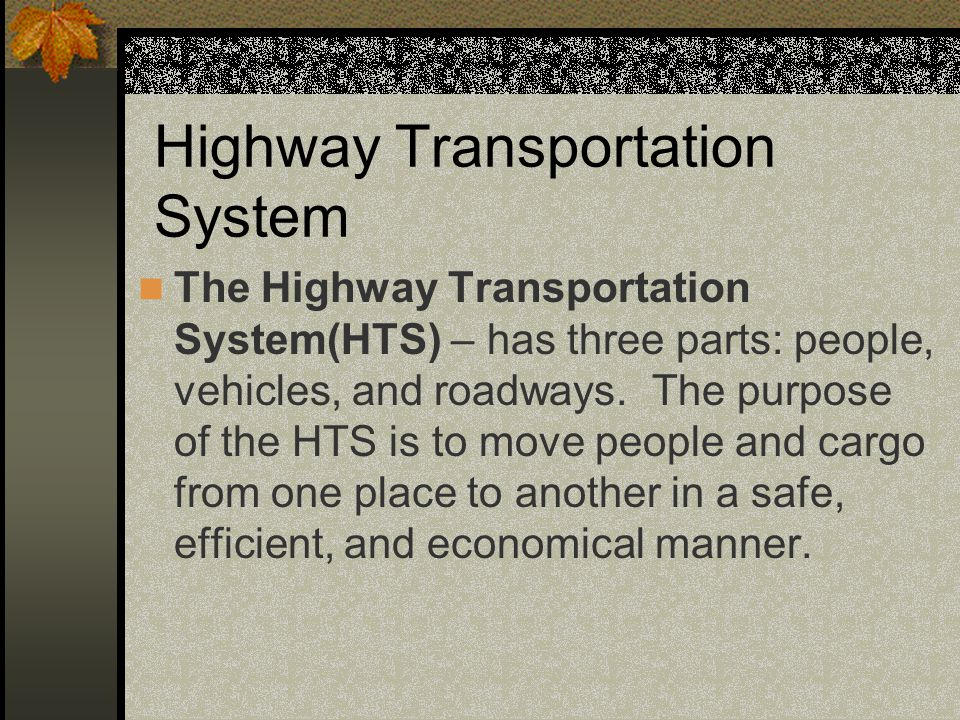 Highway Transportation System