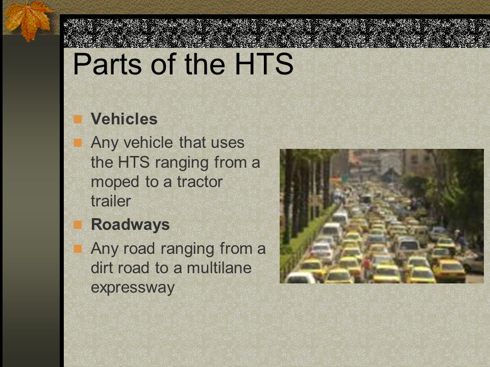 Parts of the HTS Vehicles
