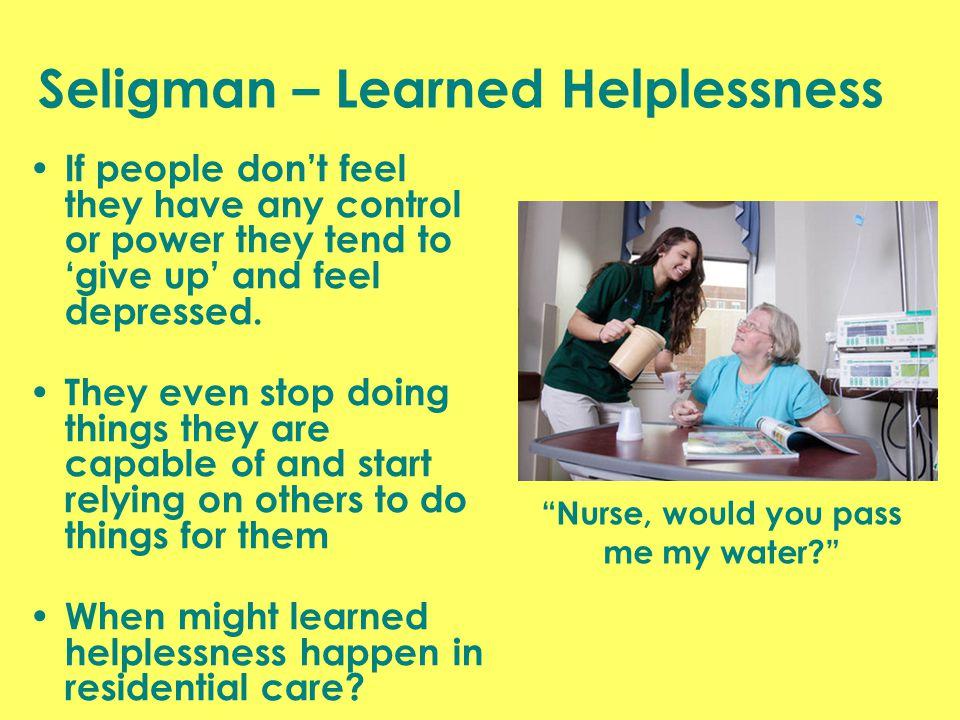 Seligman – Learned Helplessness