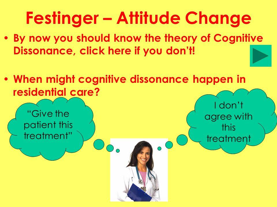 Festinger – Attitude Change