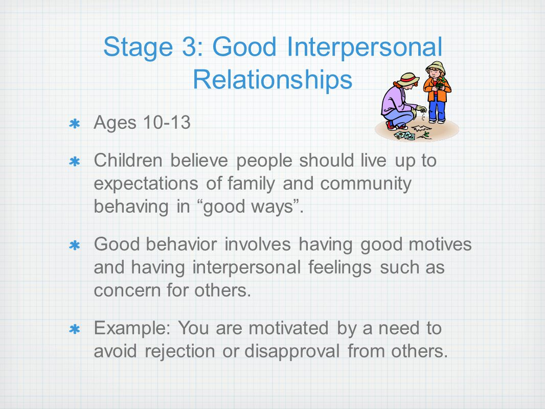 Stage 3: Good Interpersonal Relationships