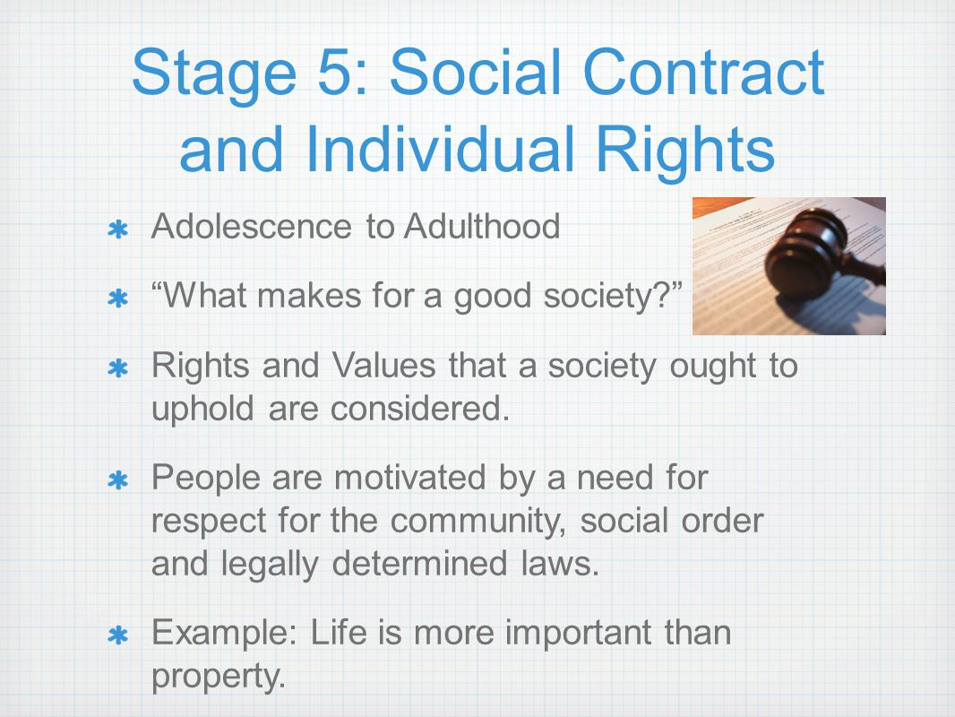 Stage 5: Social Contract and Individual Rights
