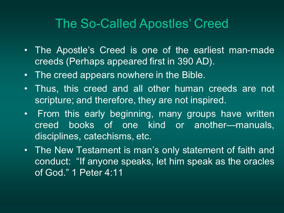 The So-Called Apostles' Creed