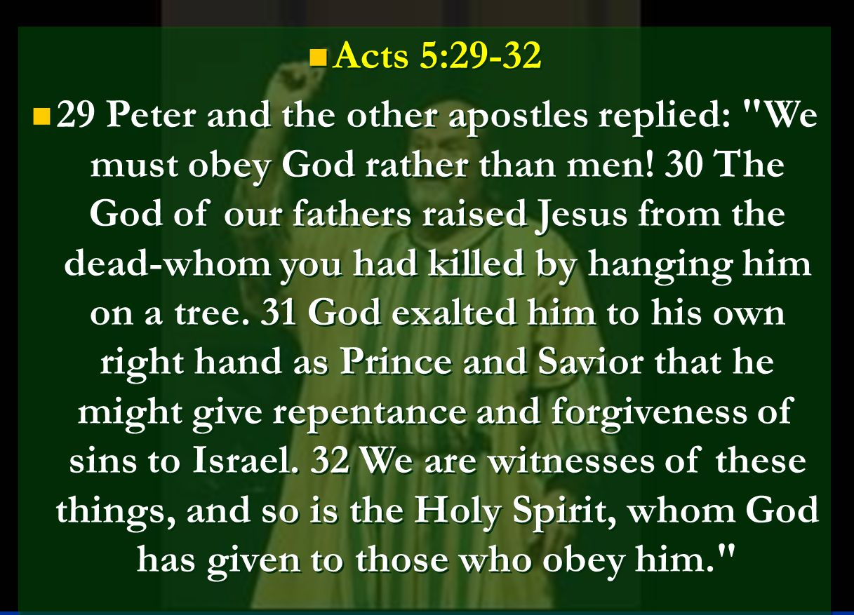 Acts 5:29-32