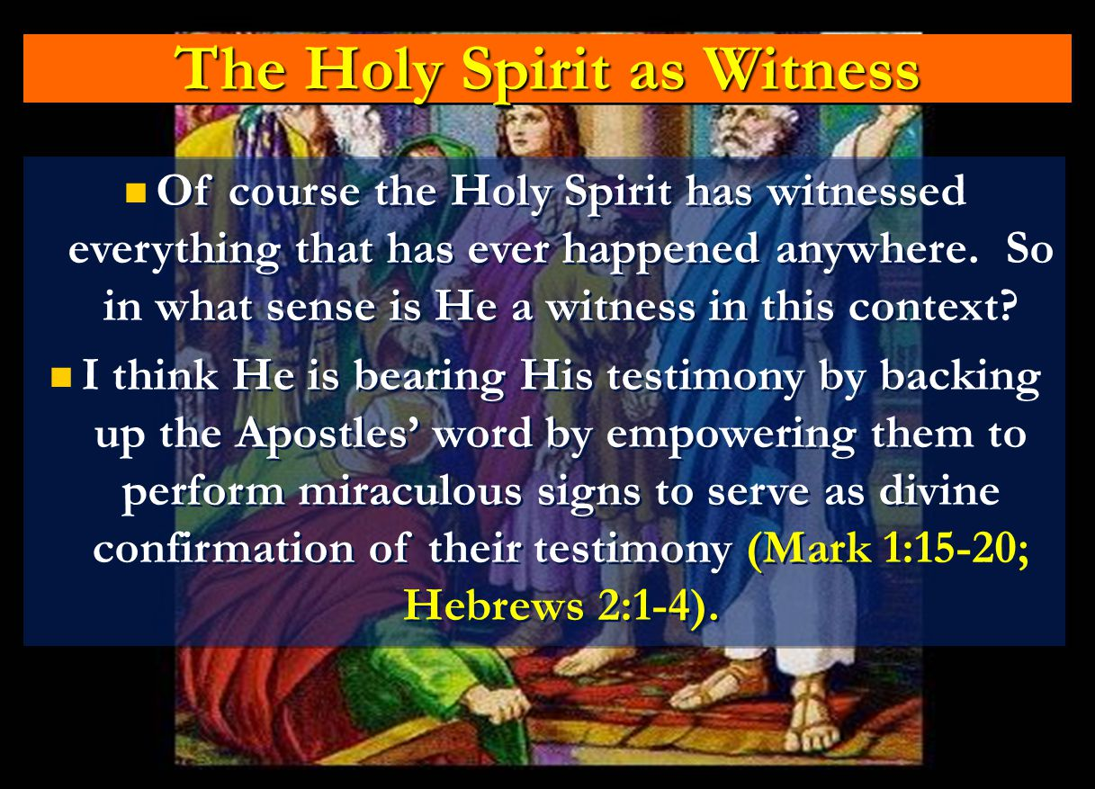 The Holy Spirit as Witness
