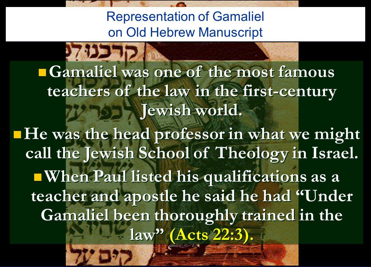 Representation of Gamaliel