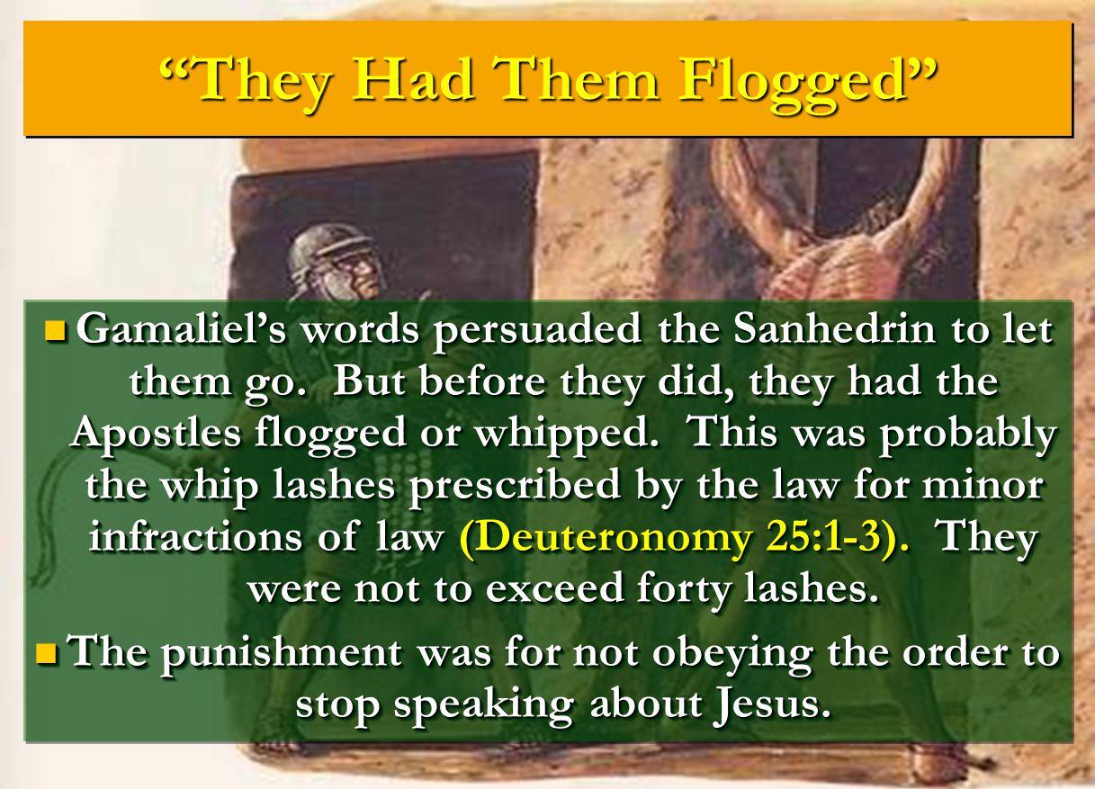 They Had Them Flogged