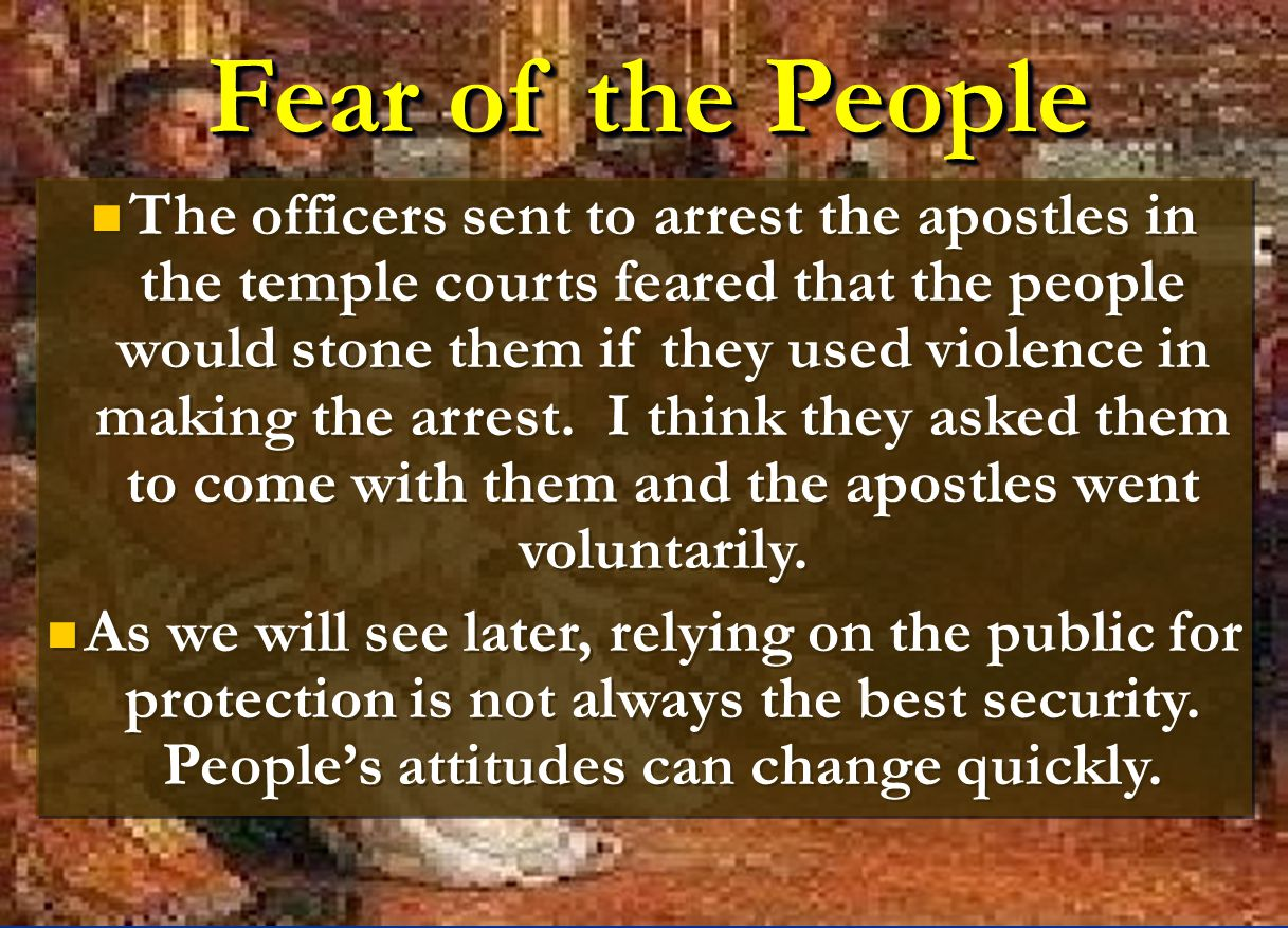 Fear of the People