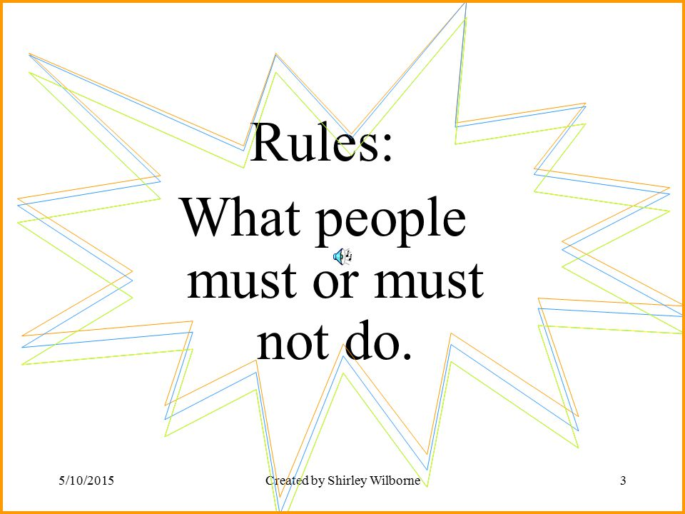 What people must or must not do.