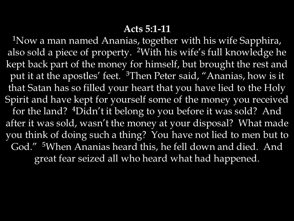 Acts 5:1-11