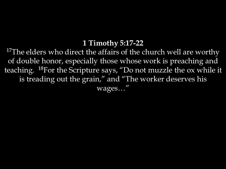 1 Timothy 5:17-22