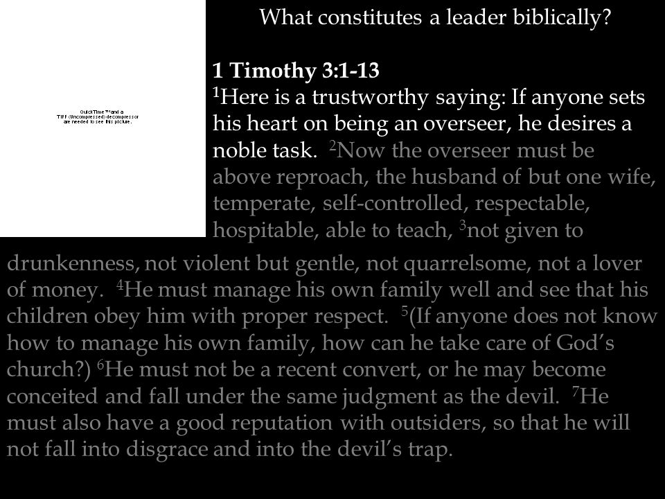 What constitutes a leader biblically