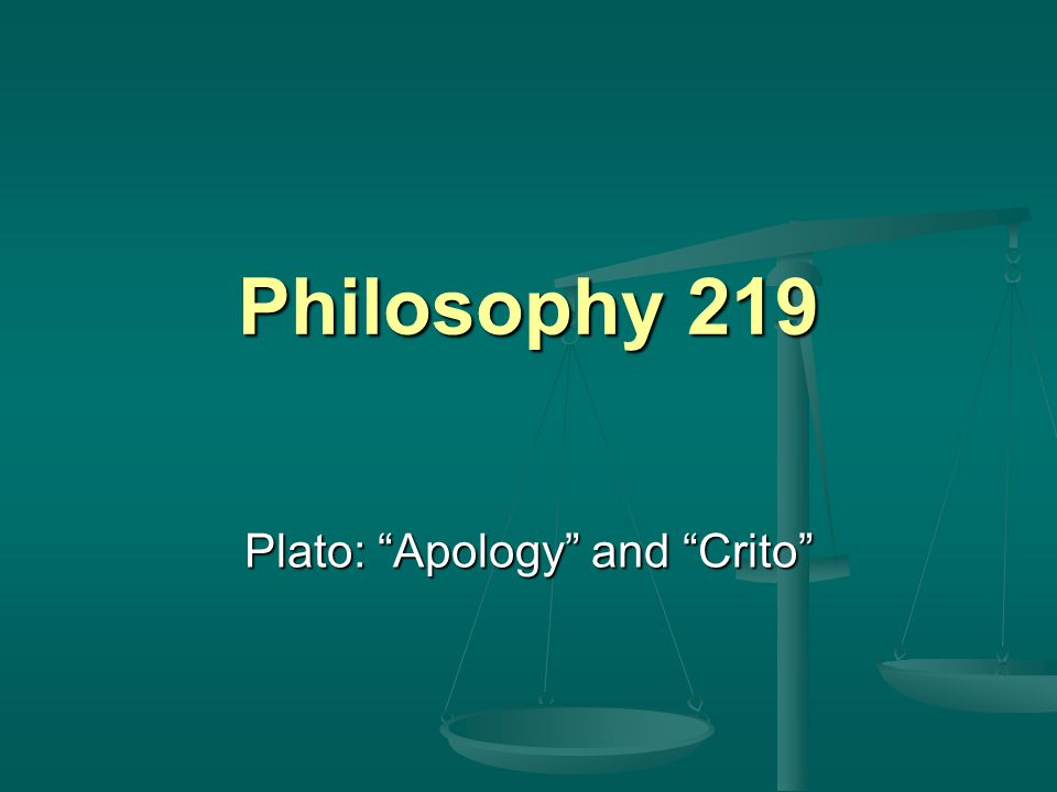 Plato: Apology and Crito