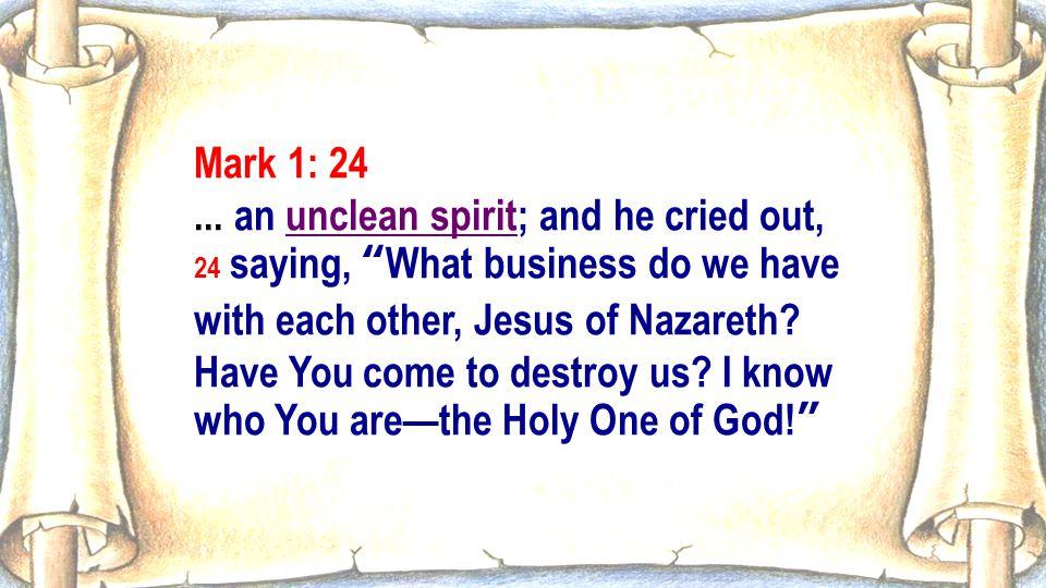 Mark 1: 24