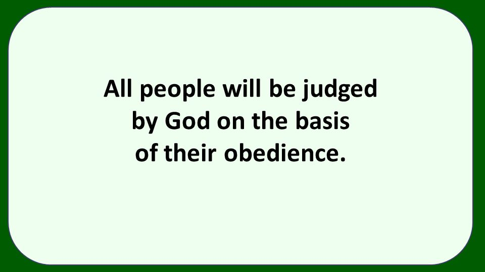 All people will be judged