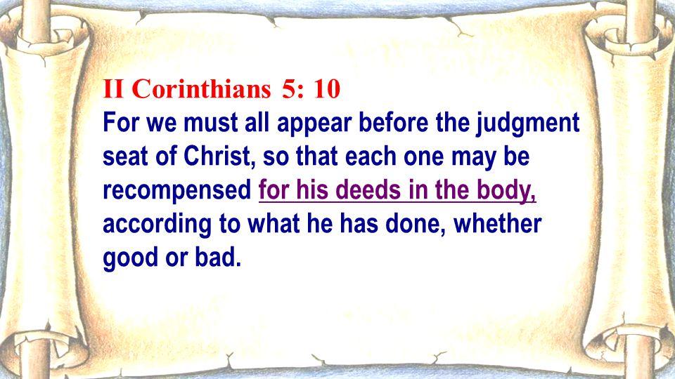 II Corinthians 5: 10