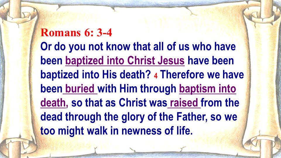 Romans 6: 3-4