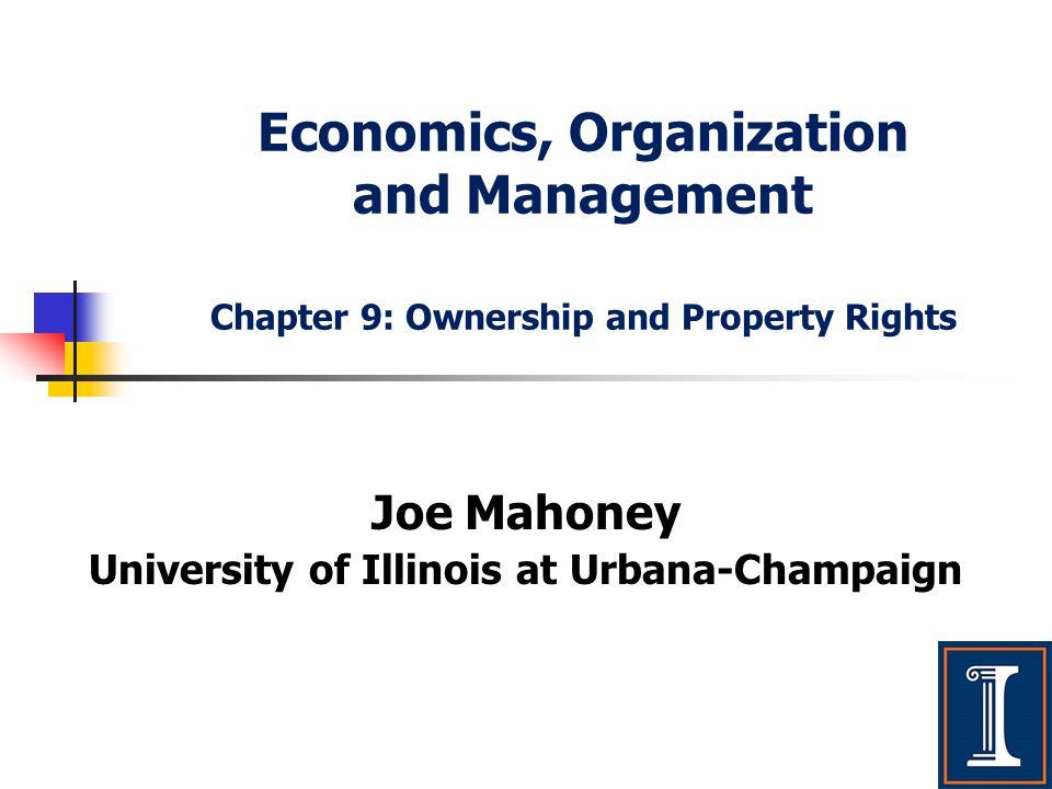 Joe Mahoney University of Illinois at Urbana-Champaign