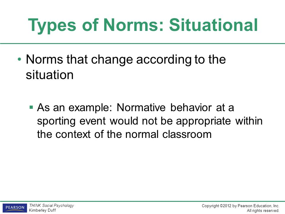 Types of Norms: Situational