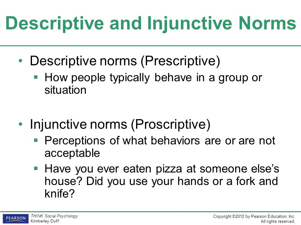 Descriptive and Injunctive Norms