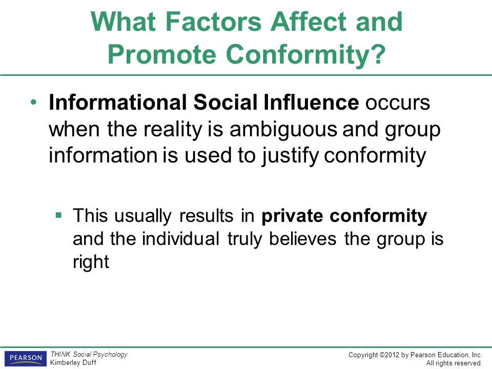 What Factors Affect and Promote Conformity
