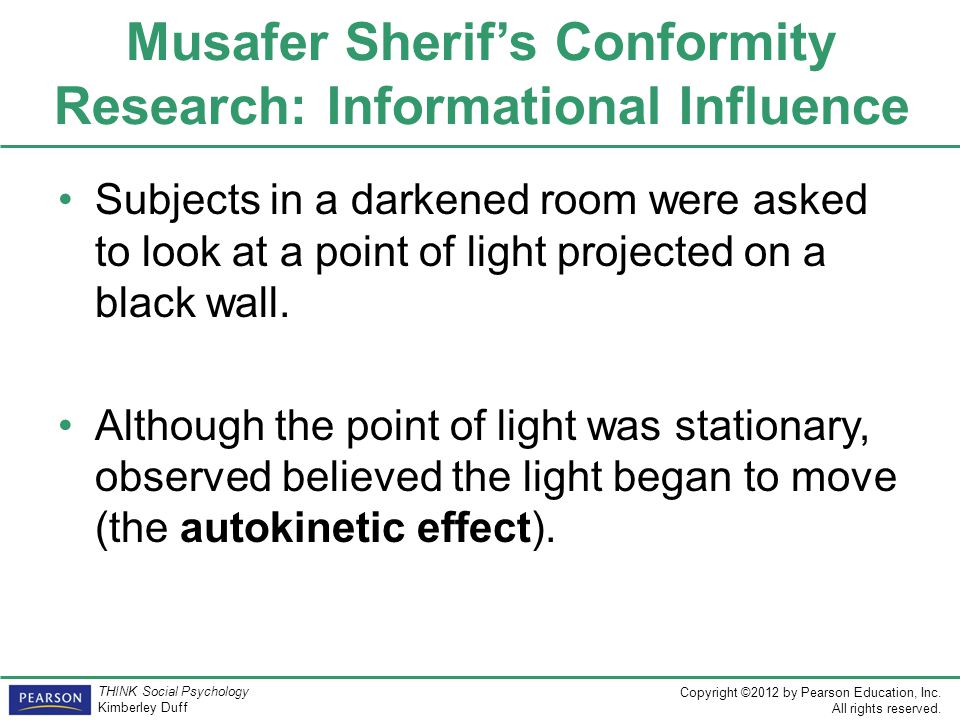 Musafer Sherif's Conformity Research: Informational Influence