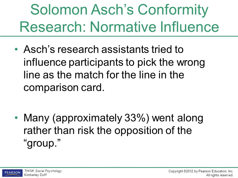 Solomon Asch's Conformity Research: Normative Influence