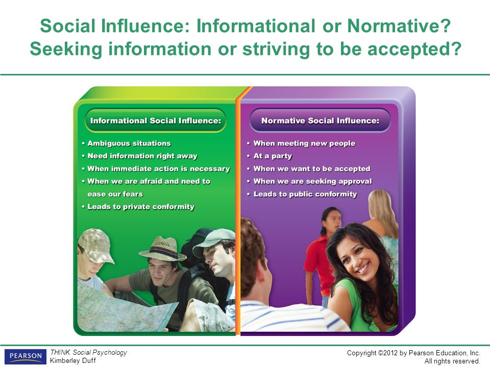 Social Influence: Informational or Normative