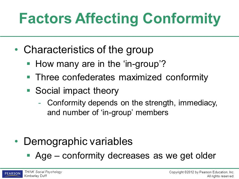 Factors Affecting Conformity