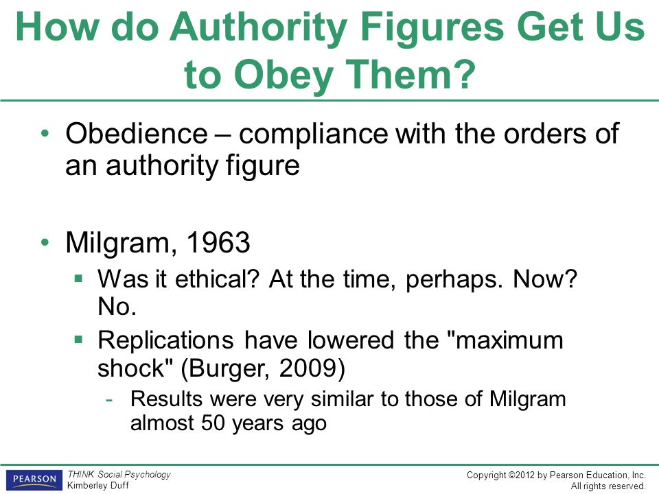 How do Authority Figures Get Us to Obey Them