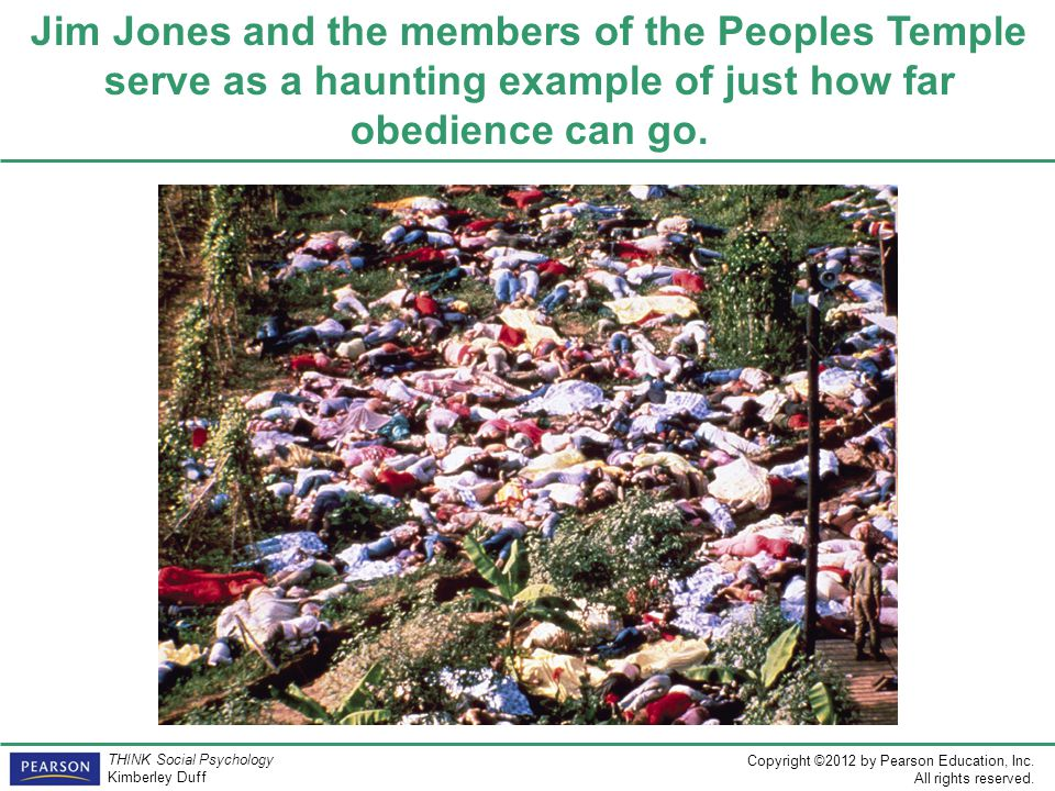 Jim Jones and the members of the Peoples Temple serve as a haunting example of just how far obedience can go.