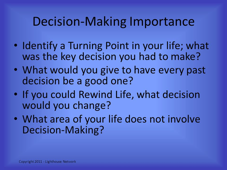 Decision-Making Importance