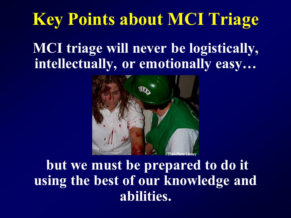 Key Points about MCI Triage