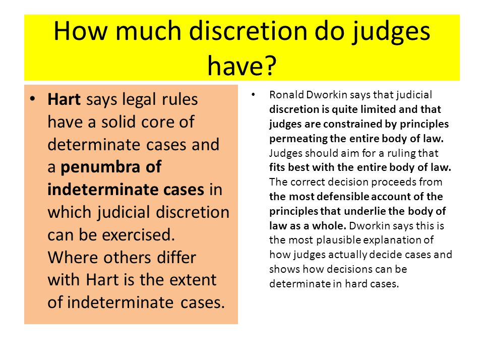 How much discretion do judges have