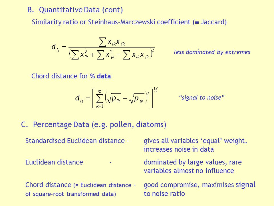 B. Quantitative Data (cont)