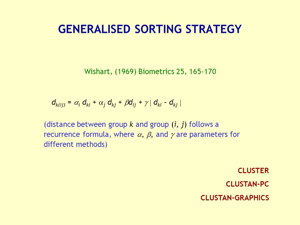 GENERALISED SORTING STRATEGY