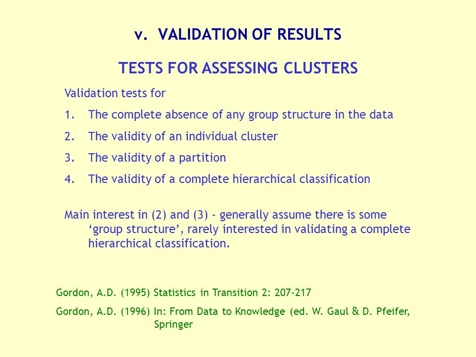v. VALIDATION OF RESULTS