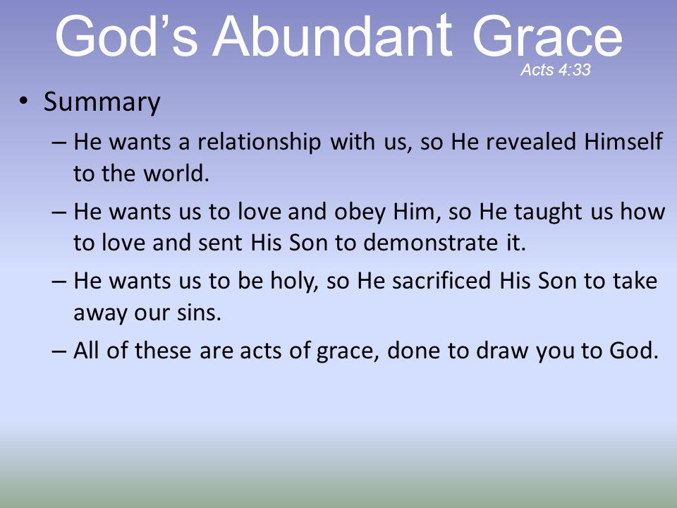 God's Abundant Grace Summary