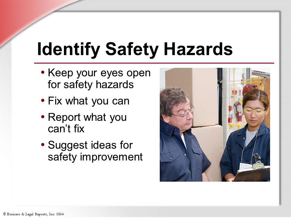 Identify Safety Hazards