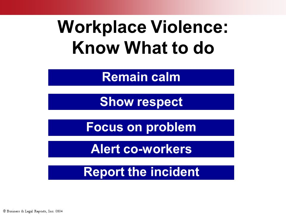 Workplace Violence: Know What to do